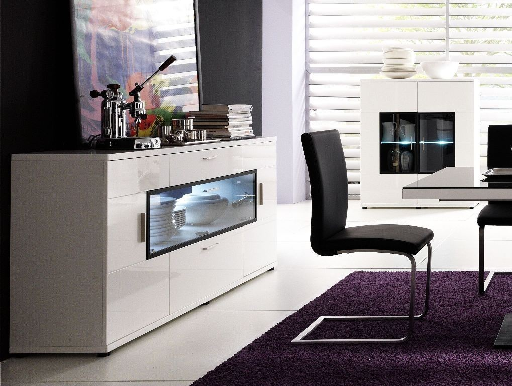 sideboard carano hochglanz wei m bel g nstig online kaufen. Black Bedroom Furniture Sets. Home Design Ideas