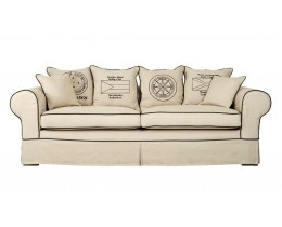 Coastal Homes Dorchester Hussensofa Creme