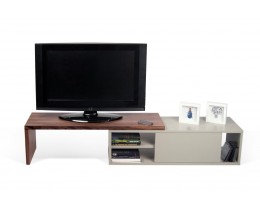 Temahome Move TV Lowboard schwenkbar, Walnuss + Grau matt