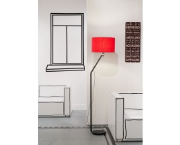 Minimalistische Stehlampe It's about RoMi Oslo, Timeless Red, Milieu