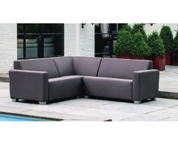 Modernes Gartensofa Willy Version 3 Bezug Silvertex Sterling