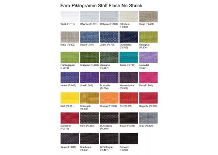 Farb-Piktogramm Stoff Flash No-Shrink